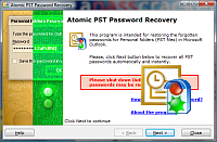 Atomic PST Password Recovery Screenshot