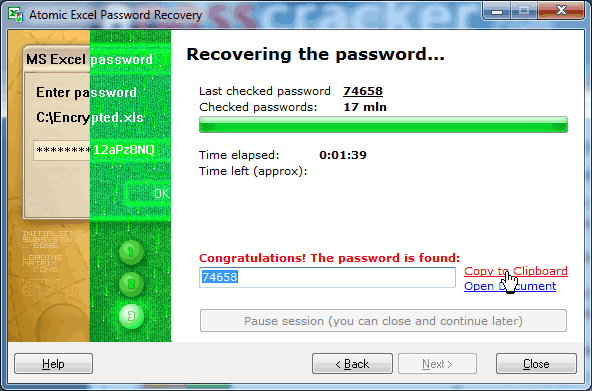 How to remove and reset Excel password